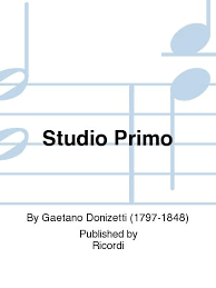 StudioPrimo(Studie)(1821)para clarinete. Gaetano Donizetti