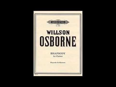 Rhapsody(1958)para clarinete solo. Wilson Osborne