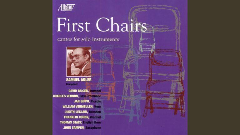 CantoIV(1970) para saxofón alto solo. Samuel Adler