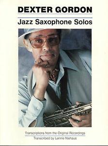 JazzSaxophoneSolospara saxofón tenor.DexterGordon
