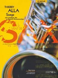 Songe(2013)para saxofón alto. Thierry Alla