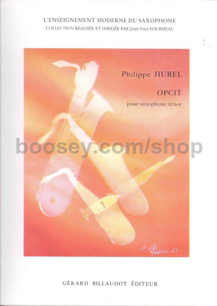 Opcit(1984)para saxofón tenor solo.Philippe Hurel