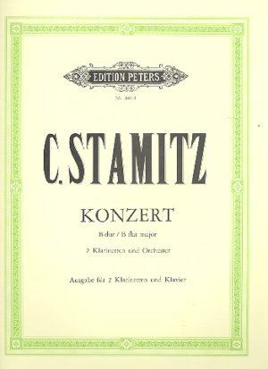 KonzertinB-Dur para dos clarinetes y piano.Carl Stamitz