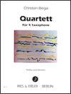 Quartette (1879) para 4 saxofones.Caryl Florio