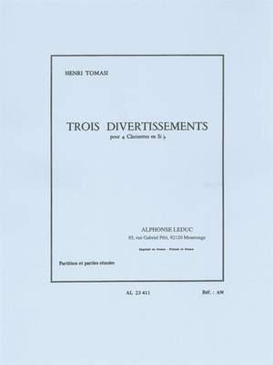 TroisDivertissements(1964)para 4 clarinetes. Henri Tomasi