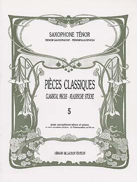 PiecesClassiques-KlassischeStückeBand5 para saxofón alto y piano.GuyLacour