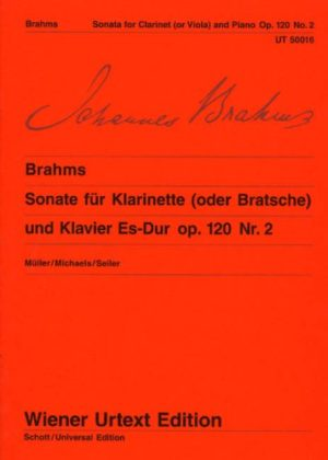SonateinEs-Durop.120No.2para clarinete y piano.Johannes Brahms