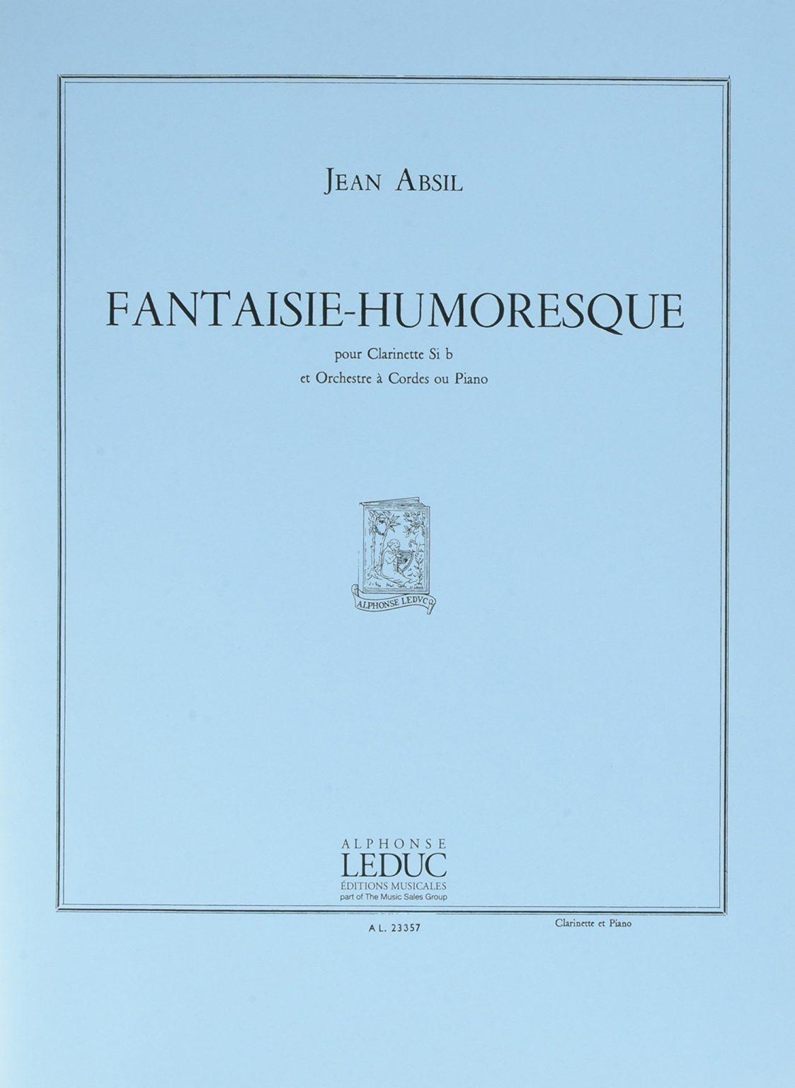 Fantaisie-Humoresqueop.113. Jean Absil