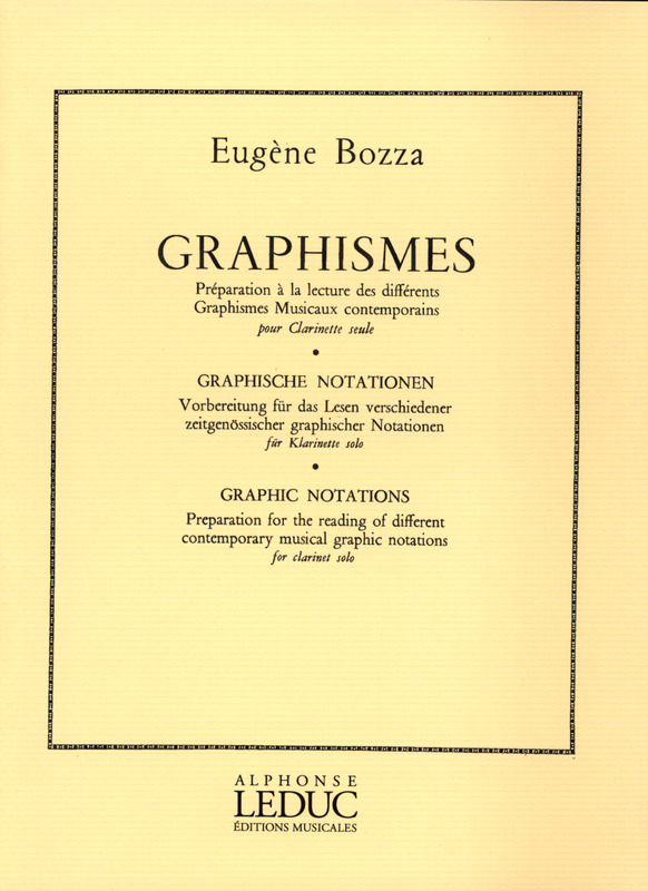 Graphismes(1975)para clarinete solo. Eugene Bozza