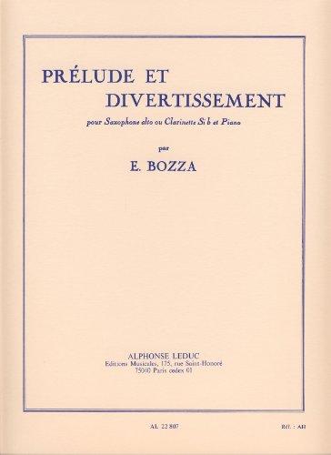 PreludeetDivertissement(1960)para clarinete o saxofón alto.Eugene Bozza