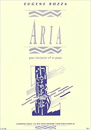 Ariapara clarinete y piano. Eugene Bozza