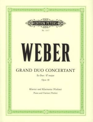 GrandDuoConcertantop.48para 2 clarinetes.CarlMariavonWeber
