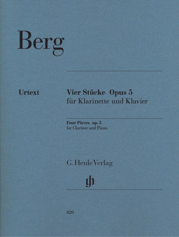 VierStückeop.5(1913)para clarinete y piano. AlbanBerg