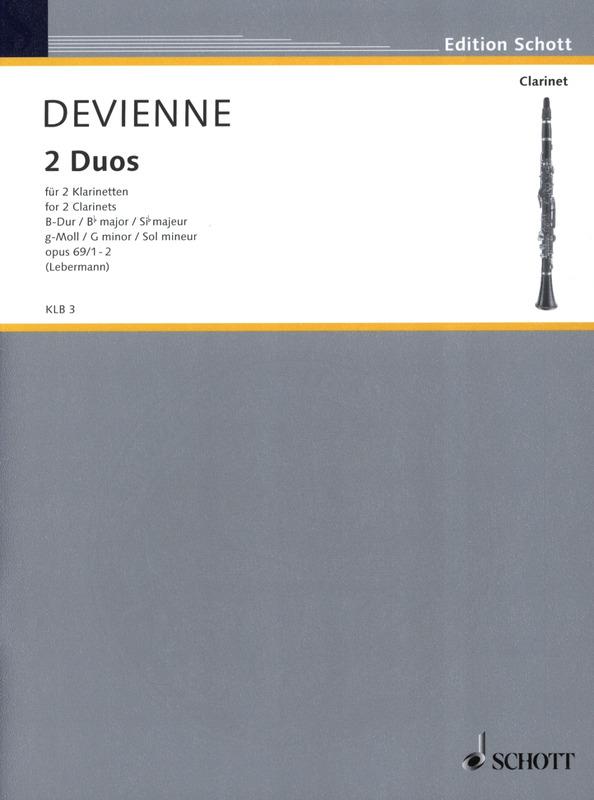 ZweiDuosinB-Durop.69No.1para dos clarinetes. FrancoisDevienne