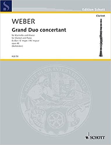 GrandDuoConcertantpara clarinete y piano. CarlMariavonWeber