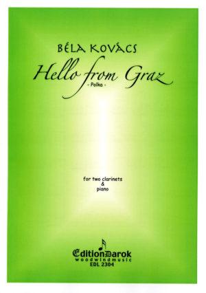 HellofromGraz,Polka(2005)para dos clarinetes y piano. Bela Kovacs