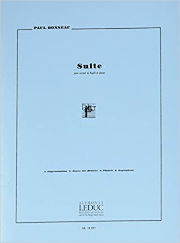 Suite para clarinete. Paul Bonneau