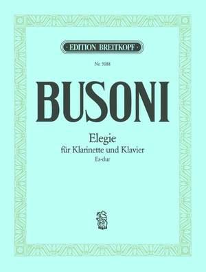 ElegieinEs-DurK286para clarinete y piano.Ferruccio Busoni