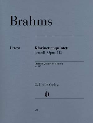 Klarinettenquintettop.115.para clarinete en La y piano. Johannes Brahms