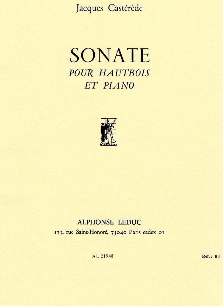 Sonate. Jacques Casterede