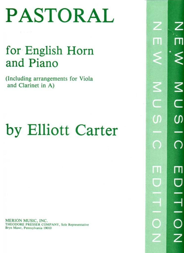 Pastoral(1945)para clarinete en La y piano.Elliott Carter