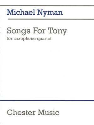 Songs for Tony (1993) para saxofón. Michael Nyman