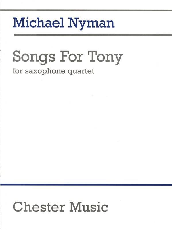 SongsforTony(1993)para saxofón.Michael Nyman