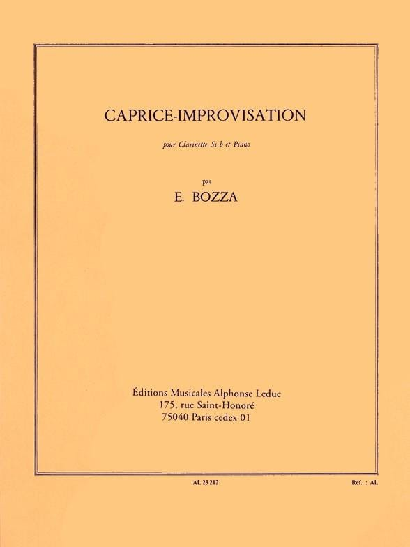 Caprice-Improvisation. Eugene Bozza