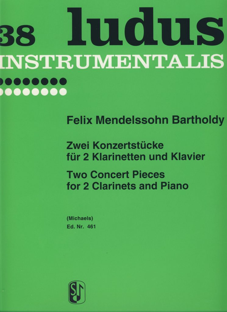 ZweiKonzertstückepara dos clarinetes y piano. FelixMendelssohn-Bartholdy