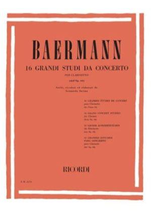 16grandiStudidaConcertopara clarinete. CarlBaermann