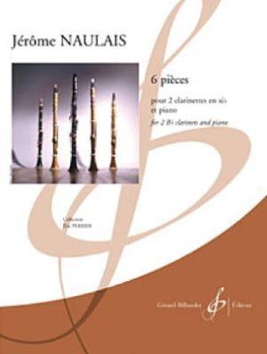 6Pieces(2008)para dos clarinetes y piano. Jerome Naulais