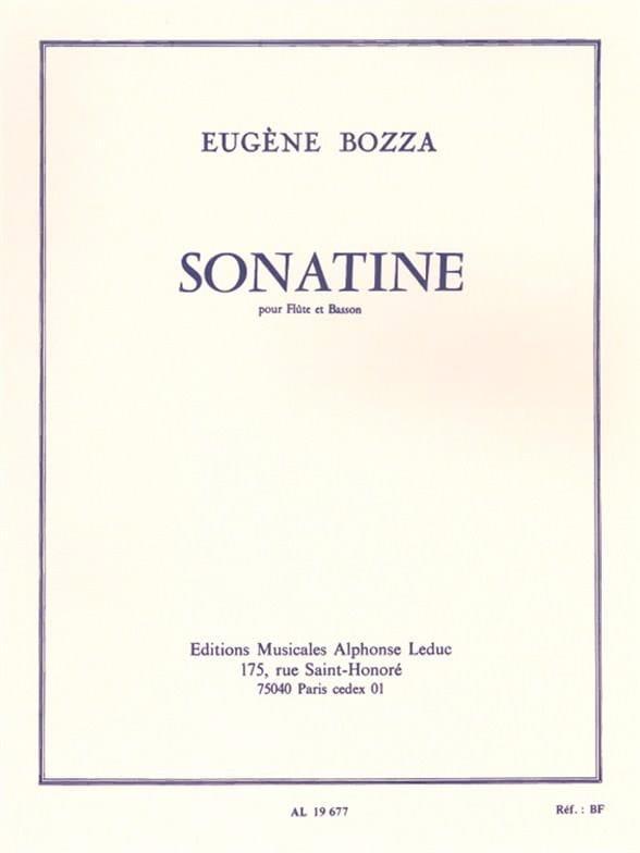 Sonatine. Eugene Bozza