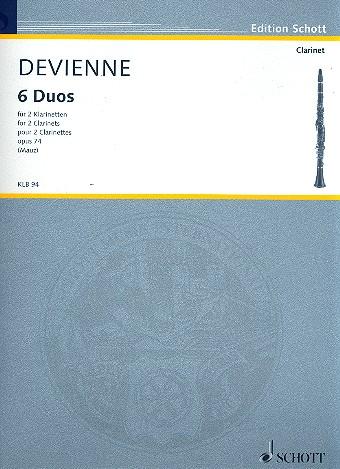 SechsDuosop.74para dos clarinetes.FrancoisDevienne