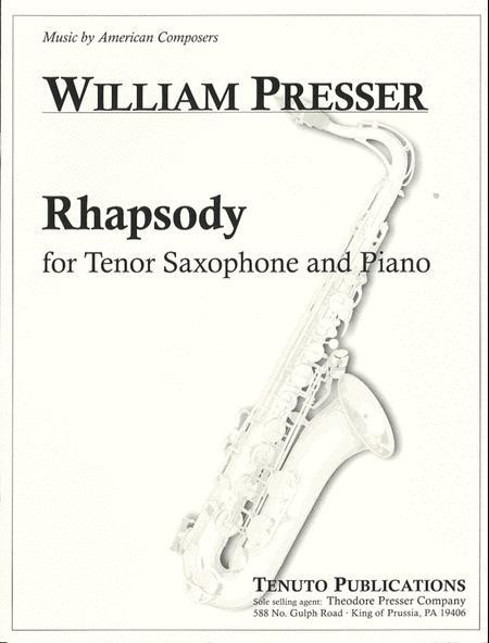Rhapsody dos piezas solistas para saxofón soprano o tenor y piano.Andre Waignein