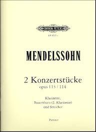ZweiKonzertstückeop.113undop.114para dos clarinetes. FelixMendelssohn-Bartholdy