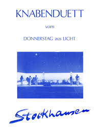 KnabenduettvomDonnerstagausLicht(1980). Karlheinz Stockhausen