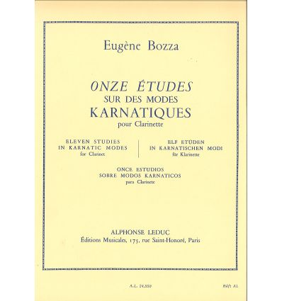 OnzeEtudessurlesModespara clarinete. Eugene Bozza