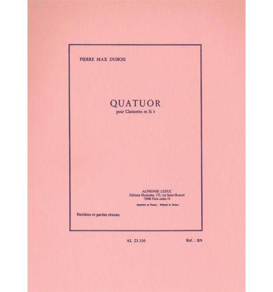 Quatuor(1964) para clarinetes. PierreMax Dubois