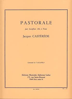 Pastorale(1981)para saxofón alto y piano. Jacques Casterede