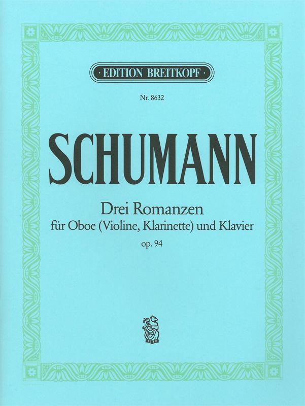 DreiRomanzenop.94 para saxofón alto y piano. RobertSchumann