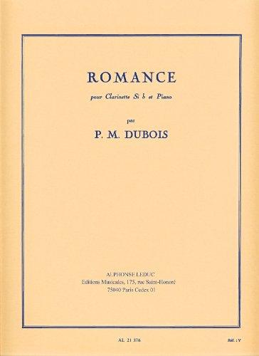 Romance(1954)para clarinete y piano. PierreMax Dubois