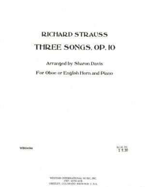 Three Songs op.10. Richard Strauss