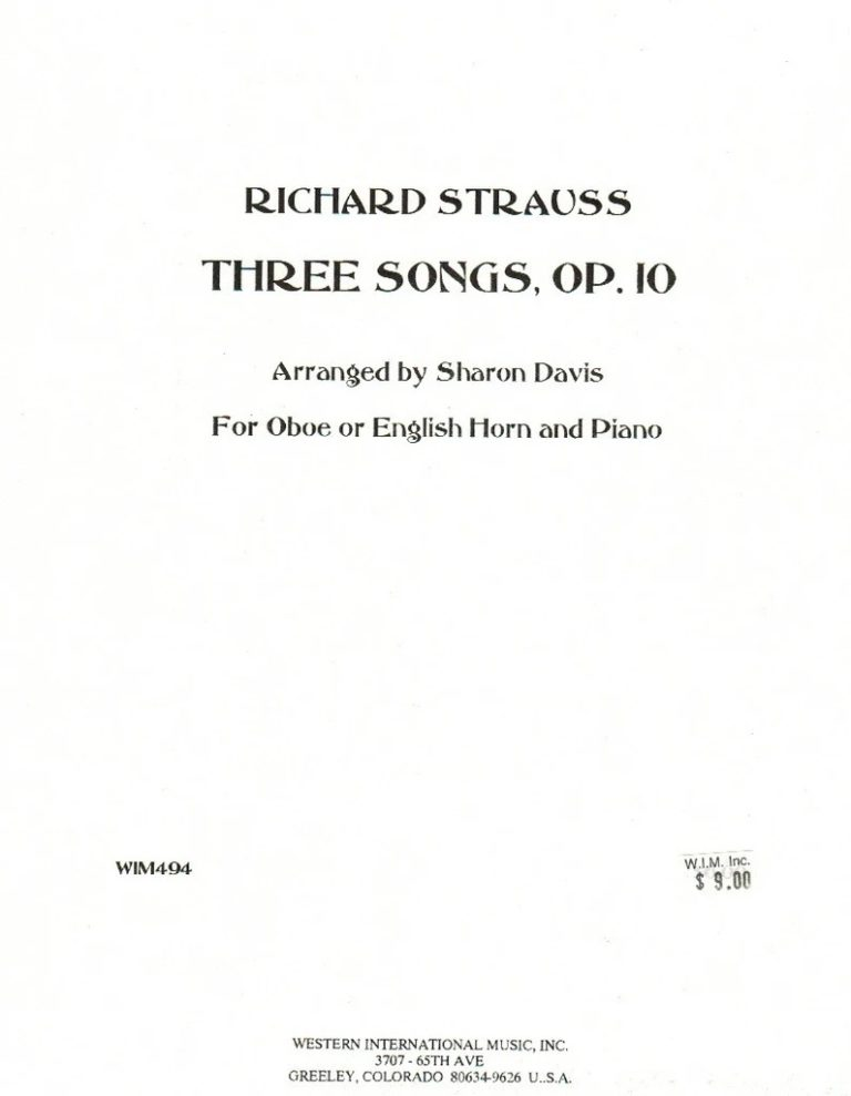 ThreeSongsop.10. Richard Strauss