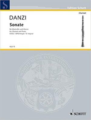 SonateinB-Durpara clariente y piano.Franz Danzi