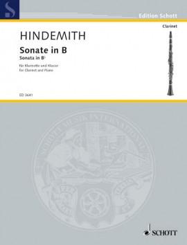 SonateinB-Dur(1939)para clarinete y piano.Paul Hindemith