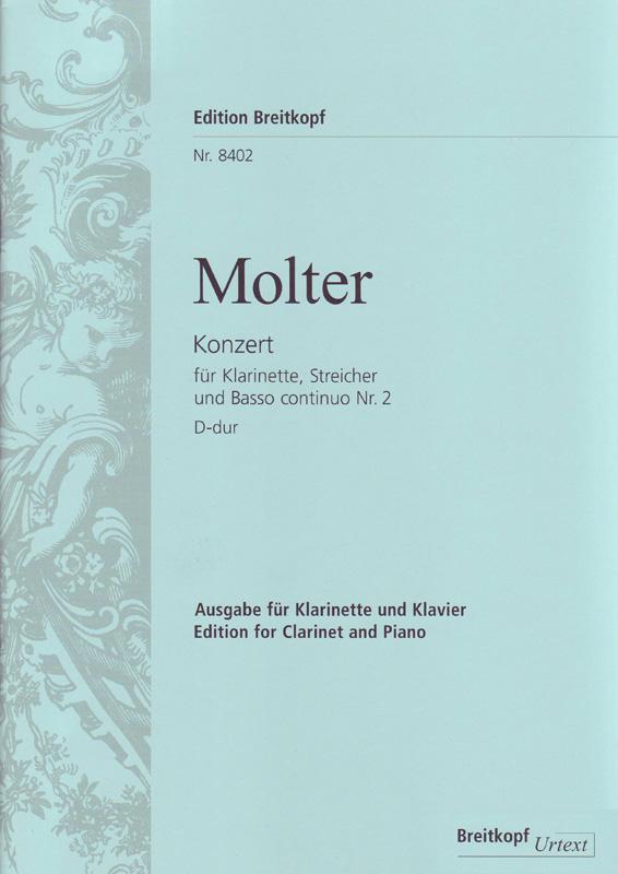 KonzertNo.2inA-Dur para clarinete (en A o D) y piano. JohannMelchior Molter