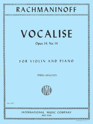 Vocaliseop.34No.14para clarinete en La y piano.SergeiRachmaninoff