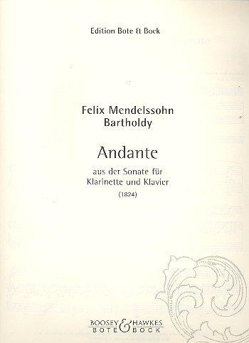 AndanteausderSonateinEs-Dur(1824)para clarinete y piano. FelixMendelssohn-Bartholdy
