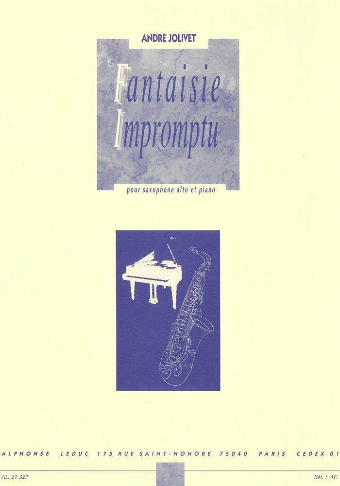 Fantaisie-Impromtu(1953)para saxofón alto y piano. Andre Jolivet