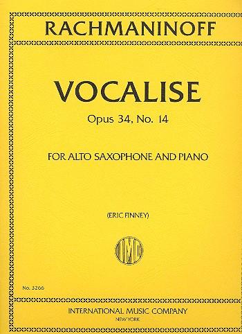 Vocaliseop.34No.14para saxofón alto y piano. SergeiRachmaninoff